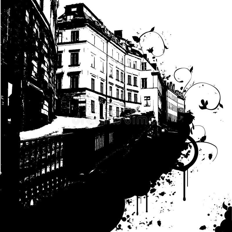Download De abstracte Stad vector illustratie. Afbeelding bestaande uit nacht - 3838059
