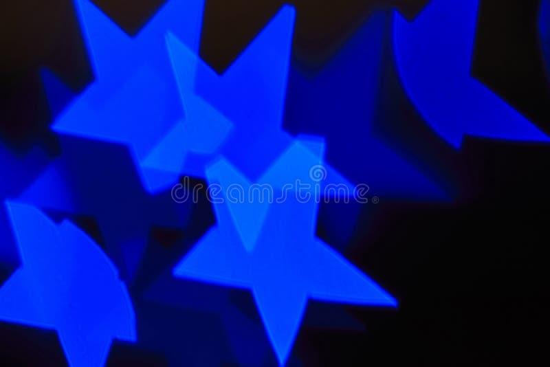 De abstracte sterrenachtergrond, blured lichten stock fotografie