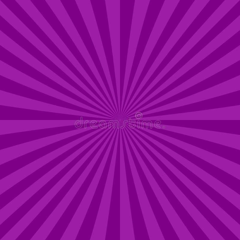 De abstracte straal barstte achtergrond van radiale strepen vector illustratie