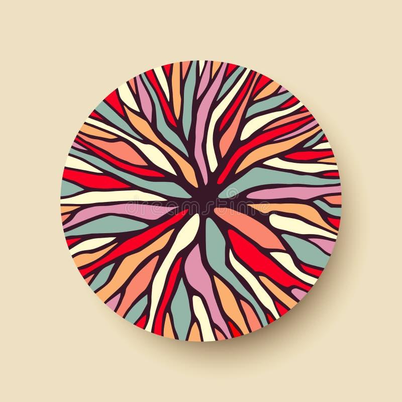 De abstracte takken van de kleurenboom in geometrische vorm stock illustratie