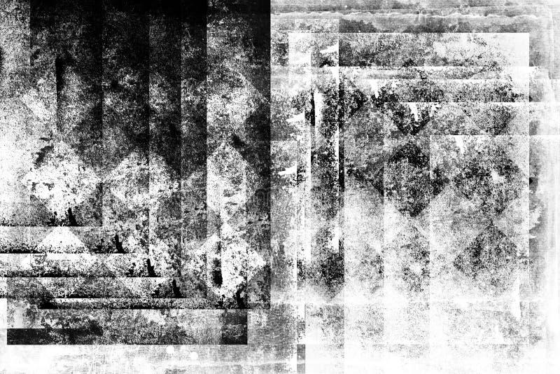 De abstracte technologie van grunge futuristische cyber backgroun Stedelijke cyberpunker designd royalty-vrije illustratie