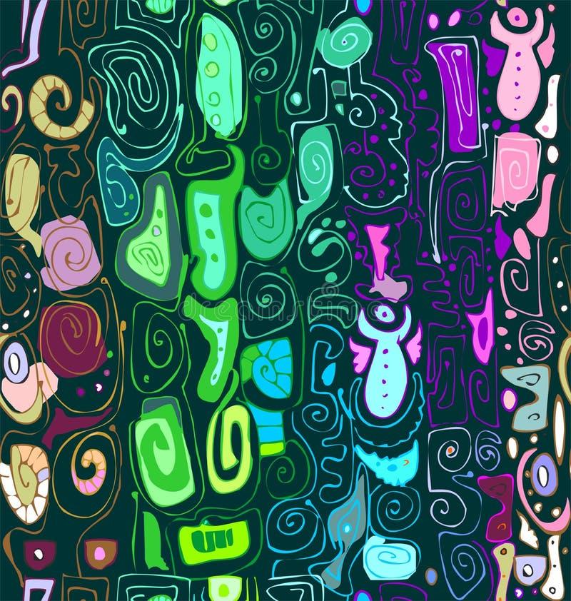 De abstracte tekening van de ornament vrije hand royalty-vrije illustratie