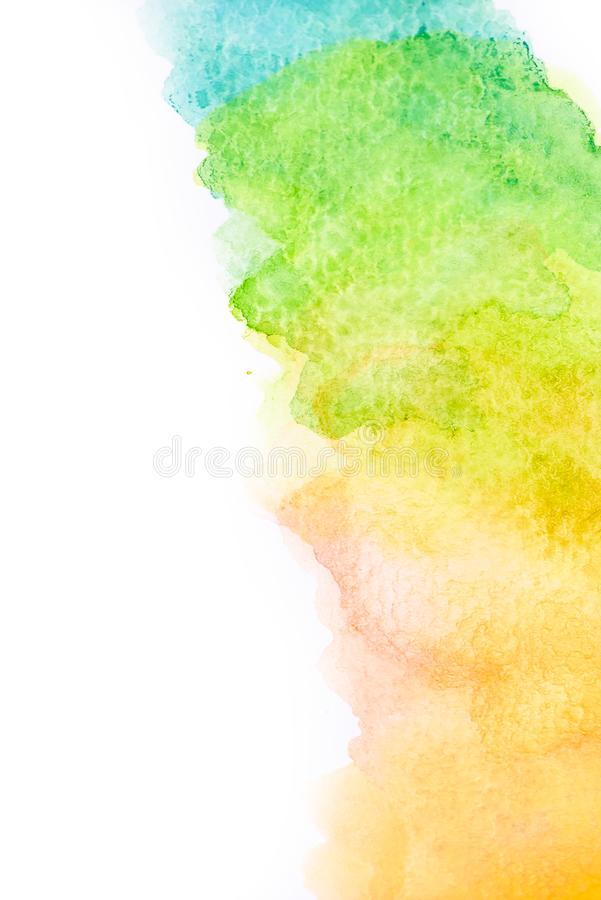 De abstracte tekening waterverf van de achtergrondillustratie vrije hand stock foto's