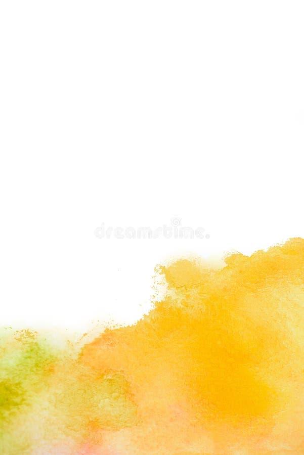 De abstracte tekening waterverf van de achtergrondillustratie vrije hand stock afbeelding
