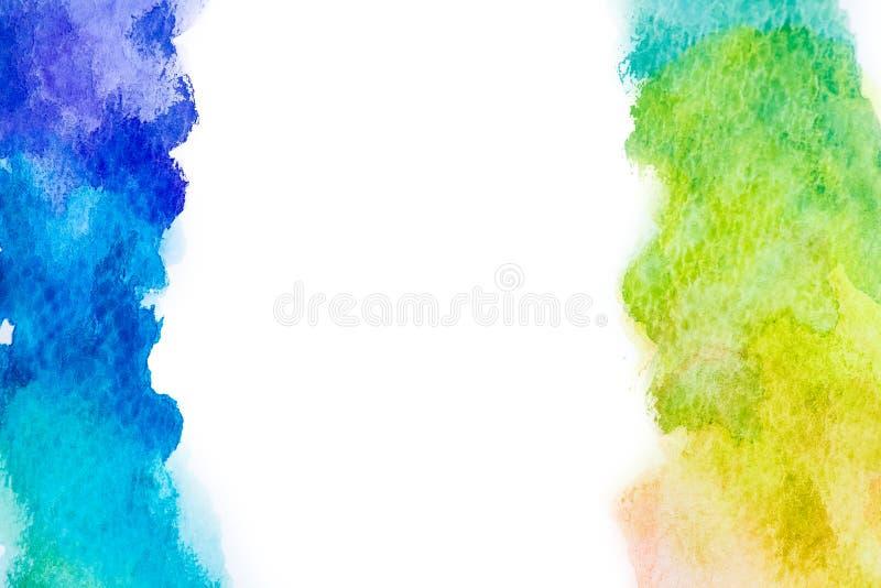 De abstracte tekening waterverf van de achtergrondillustratie vrije hand stock foto