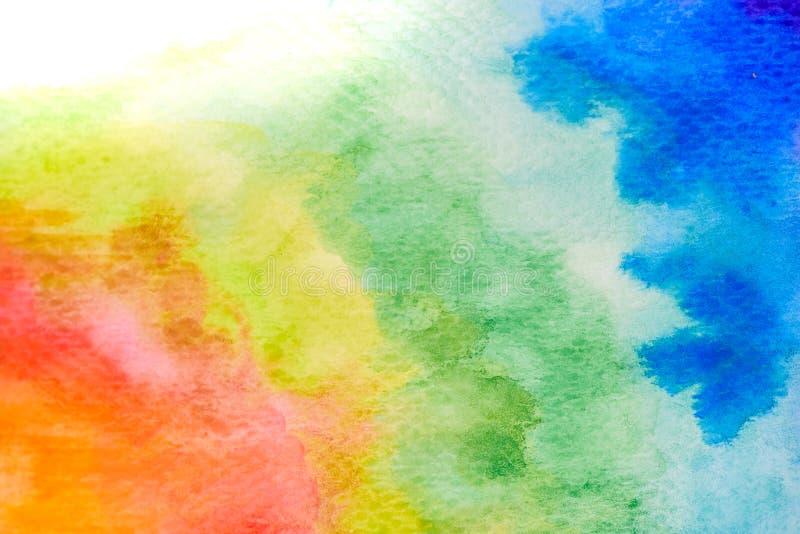 De abstracte tekening waterverf van de achtergrondillustratie vrije hand stock fotografie