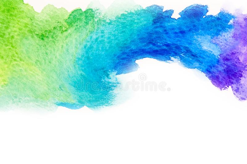 De abstracte tekening waterverf van de achtergrondillustratie vrije hand royalty-vrije stock fotografie