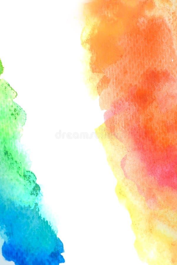 De abstracte tekening waterverf van de achtergrondillustratie vrije hand stock afbeeldingen