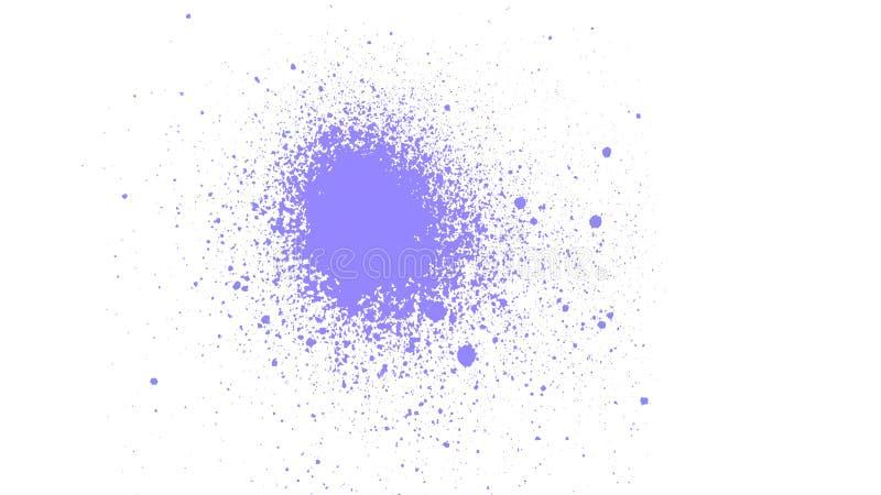 De abstracte textuur van de waterverfplons Plonsenachtergrond Ploeter verfborstel De achtergrond van de verfnevel royalty-vrije illustratie