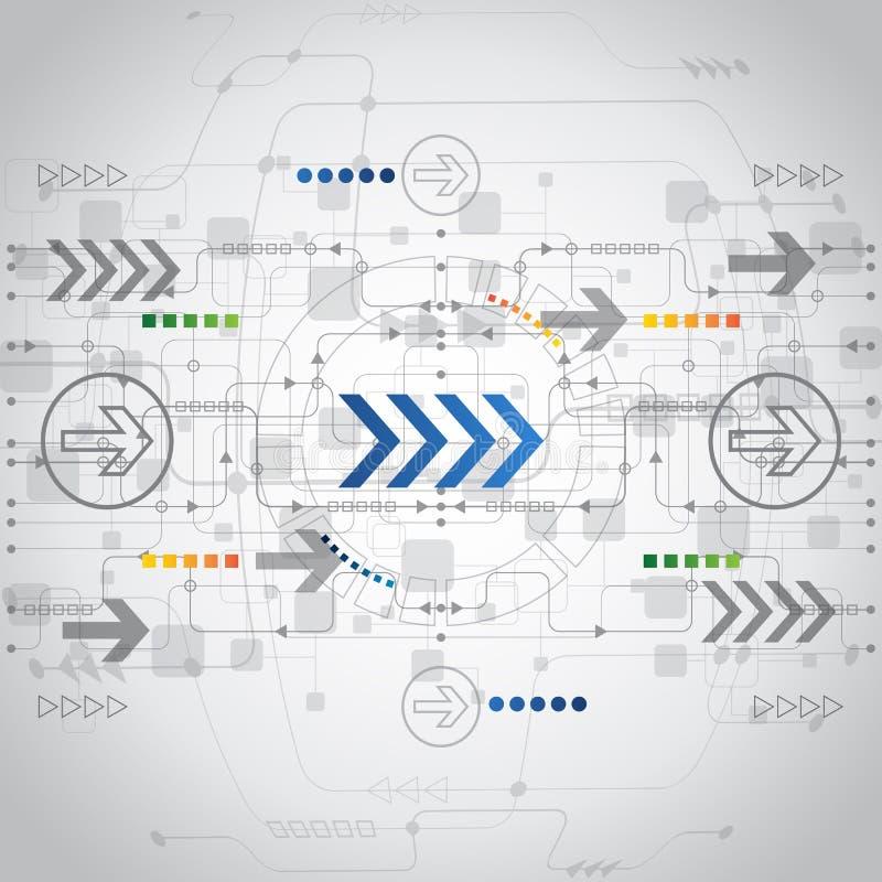 De abstracte toekomstige achtergrond van het technologieconcept, vector royalty-vrije illustratie
