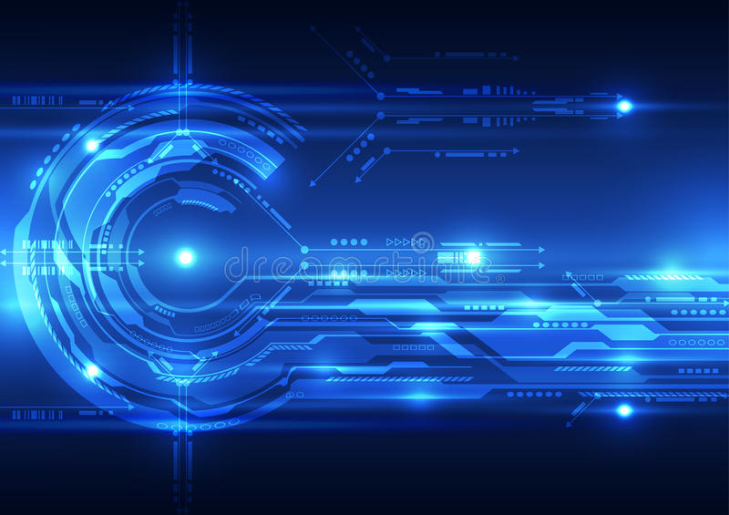 De abstracte toekomstige achtergrond van het technologieconcept, vectorillustratie royalty-vrije illustratie