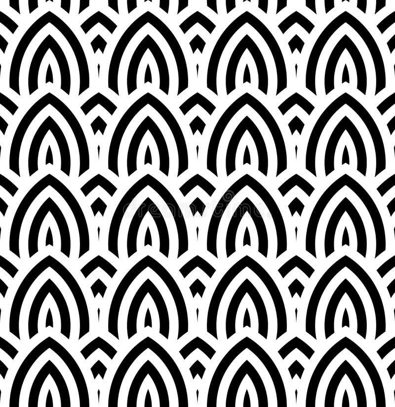 De abstracte uitstekende geometrische naadloze achtergrond van het behangpatroon stock illustratie