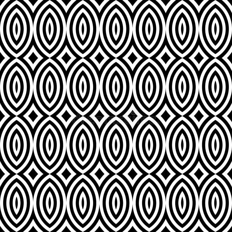 De abstracte uitstekende geometrische naadloze achtergrond van het behangpatroon royalty-vrije illustratie