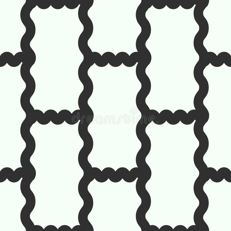 De abstracte uitstekende geometrische naadloze achtergrond van het behangpatroon Vector illustratie royalty-vrije illustratie