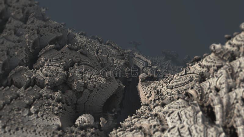 De abstracte van de de aard materiële structuur van de oppervlakteberg macro digitale 3d illustratie royalty-vrije illustratie