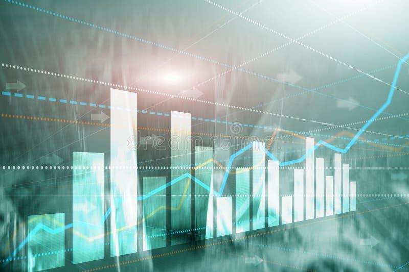 De abstracte van de commerci?le moderne achtergrond stads stedelijke futuristische architectuur Financi?le investering of Economi stock foto