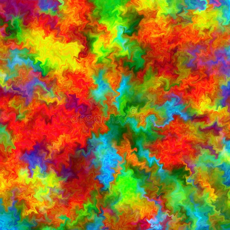 De abstracte van de de verfplons van de regenboogkleur achtergrond van de de kunstwaterverf royalty-vrije illustratie