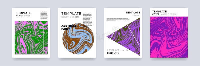 De abstracte van het de textuurmalplaatje van het verfontwerp marmeren achtergrond van de de kleuren vloeibare plons vastgestelde vector illustratie
