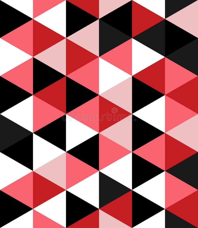 De abstracte van de de meetkundetextuur van het Driehoeks vector naadloze patroon veelhoekige achtergrond vector illustratie