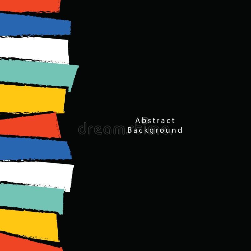 De abstracte vector van de Achtergrondaffiche vierkante illustratie Backgroun royalty-vrije illustratie