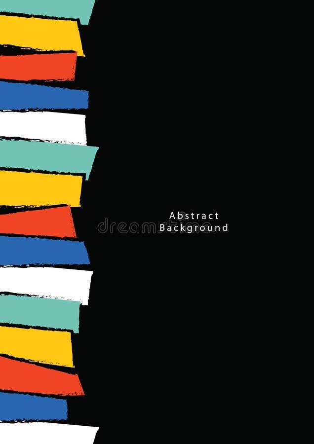 De abstracte vector van de Achtergrondaffichea4 illustratie Mede achtergrond vector illustratie