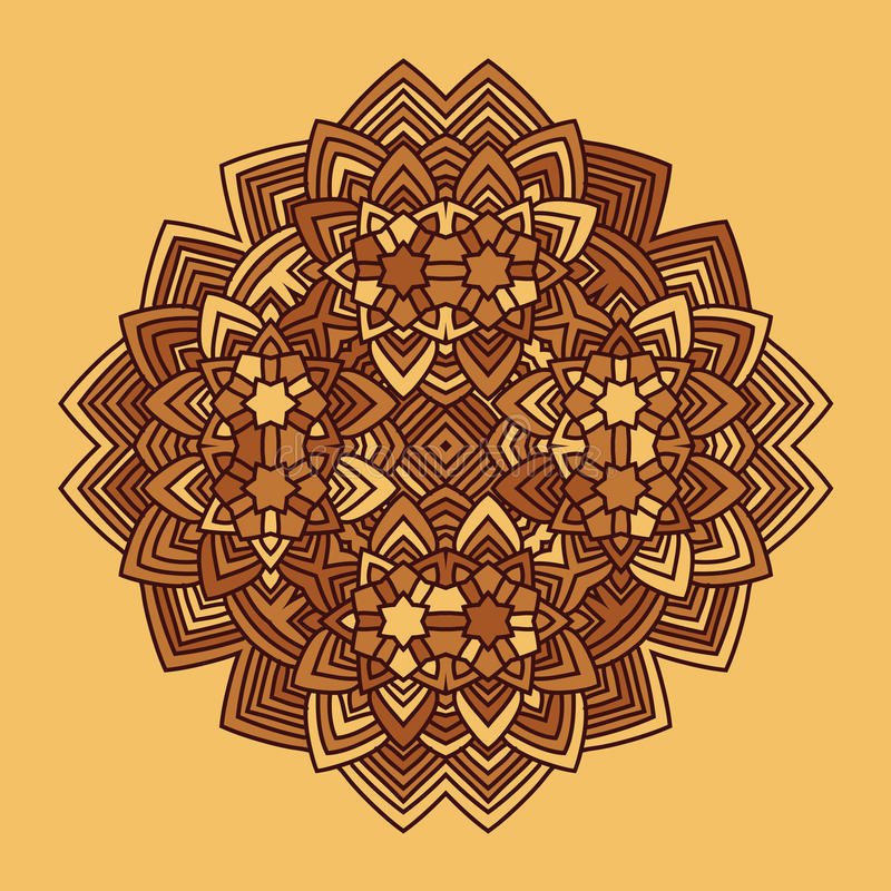 De abstracte vector van bloemmandala vector illustratie