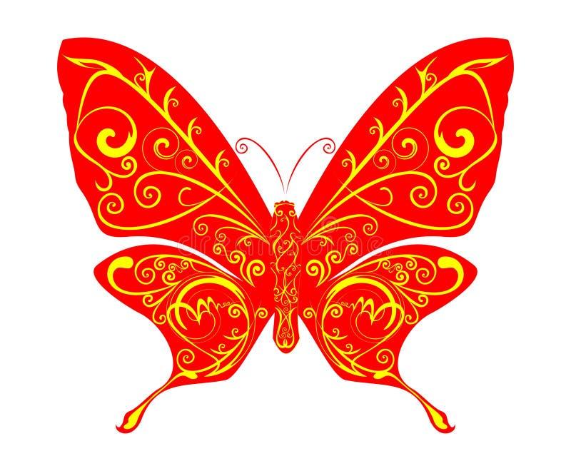 De abstracte vector van de Vlinder vector illustratie