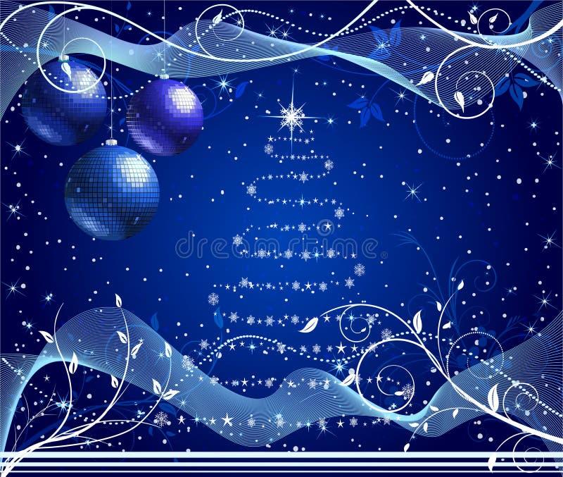De abstracte vector van Kerstmis vector illustratie