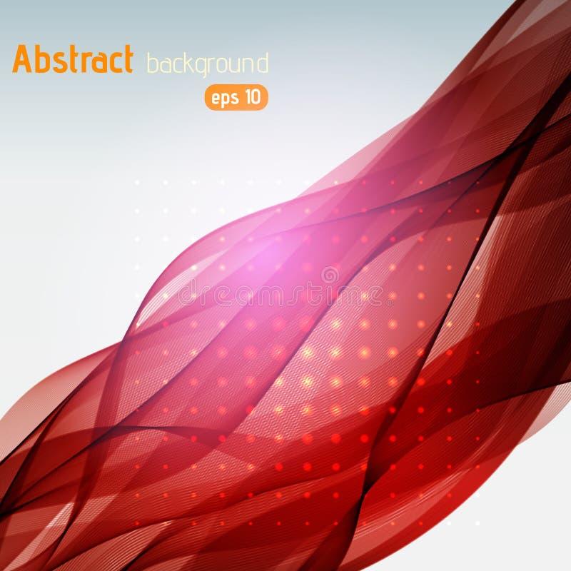 De abstracte vectorachtergrond van de bedrijfstechnologiegolf stock illustratie