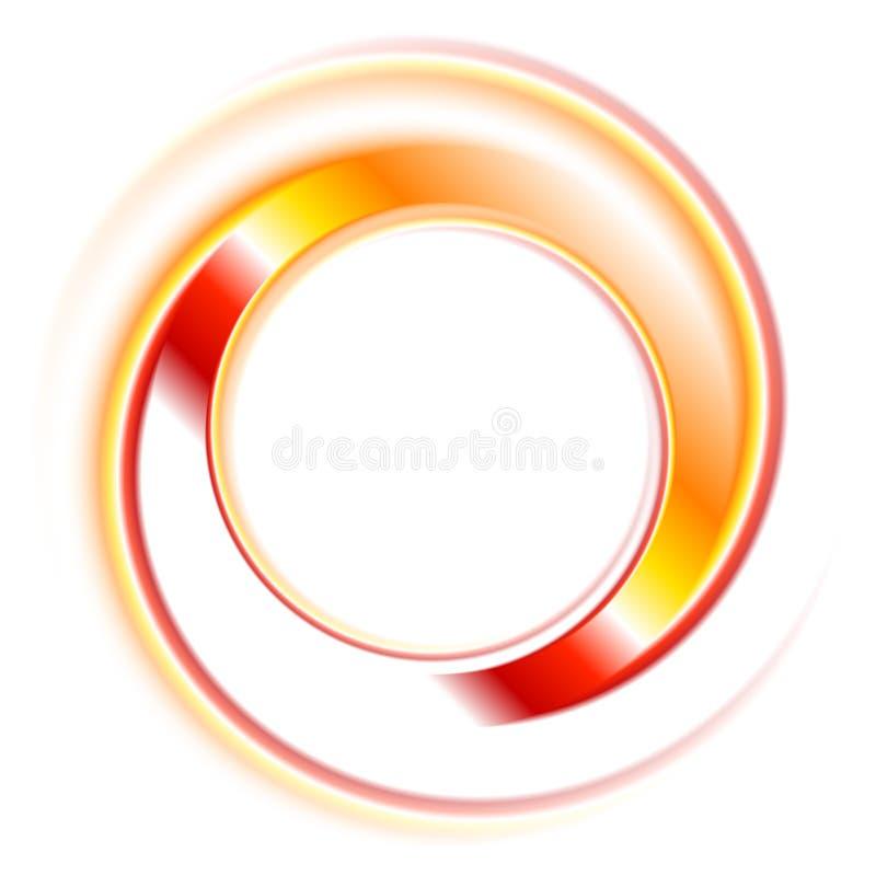 De abstracte vectorachtergrond van het cirkelsembleem stock illustratie