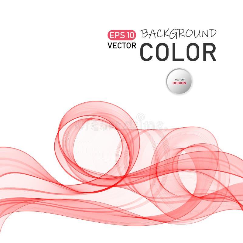 De abstracte vectorachtergrond van de kleurengolf Transparante vliegende lichtrose golven vector illustratie