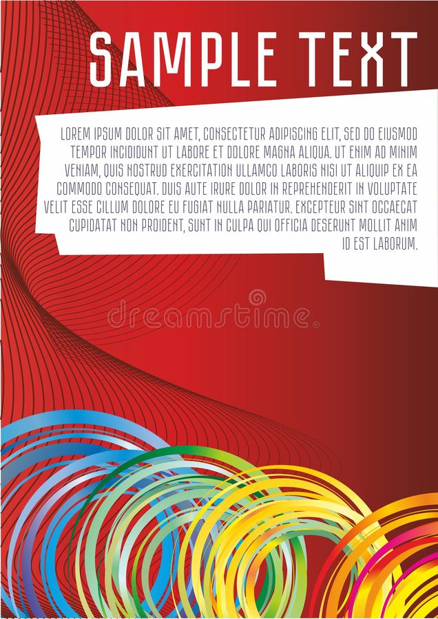 de abstracte vectorachtergrond van rode kleur voor informatie, presentaties, affiches, kleurde ringen en lijnen, Mooie fantastisc vector illustratie