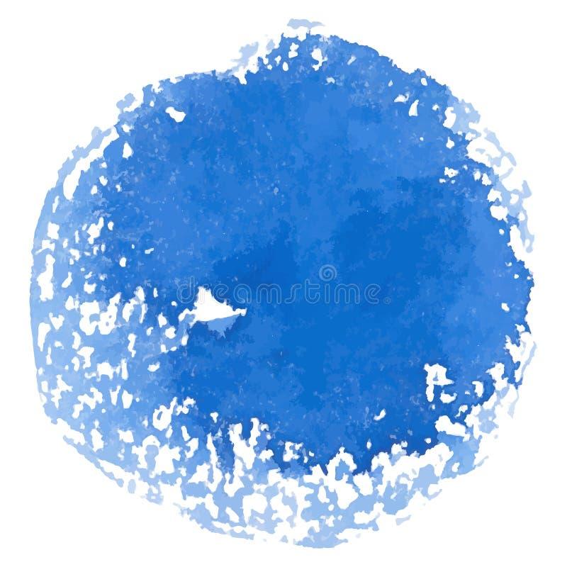 De abstracte vectorbanner van de waterverf blauwe vlek royalty-vrije illustratie