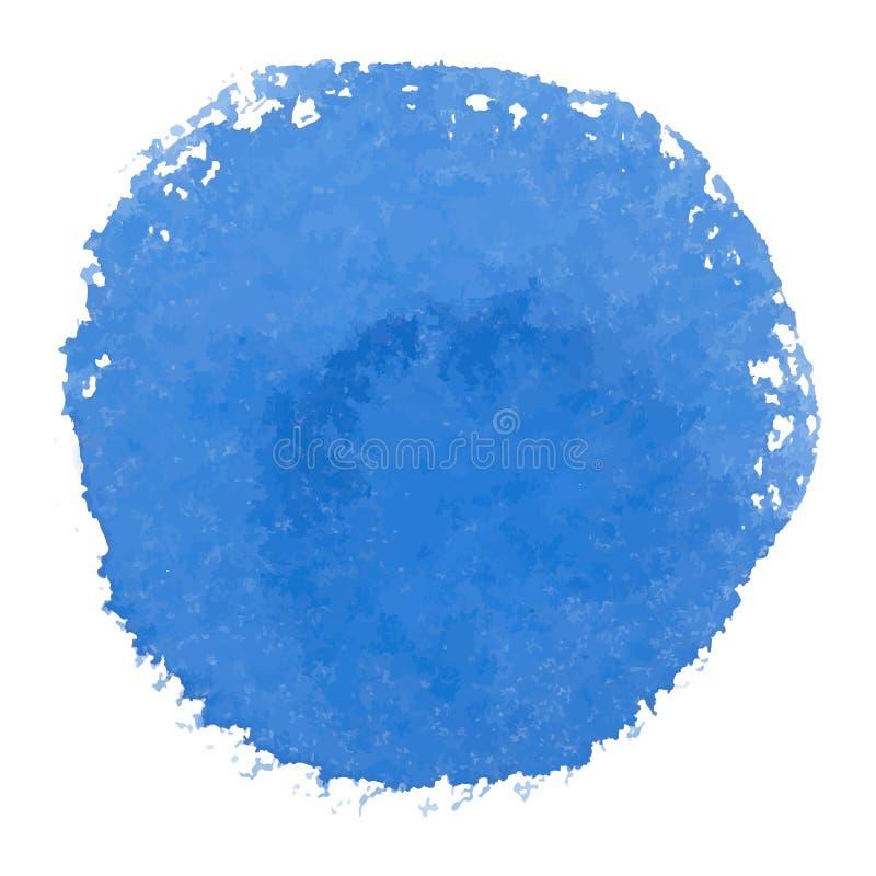 De abstracte vectorbanner van de waterverf blauwe vlek stock illustratie