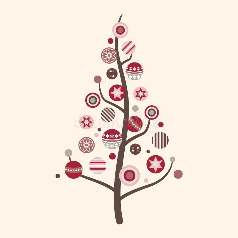 De abstracte VectorIllustratie van de Kerstboom royalty-vrije stock foto's