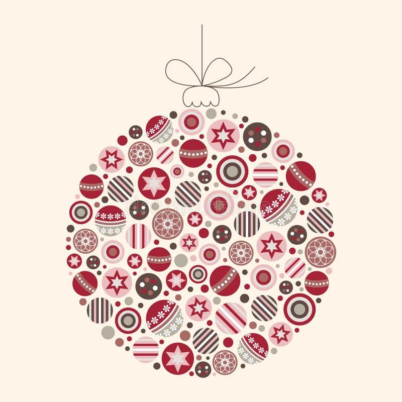 De abstracte VectorIllustratie van de Snuisterij van Kerstmis royalty-vrije stock fotografie