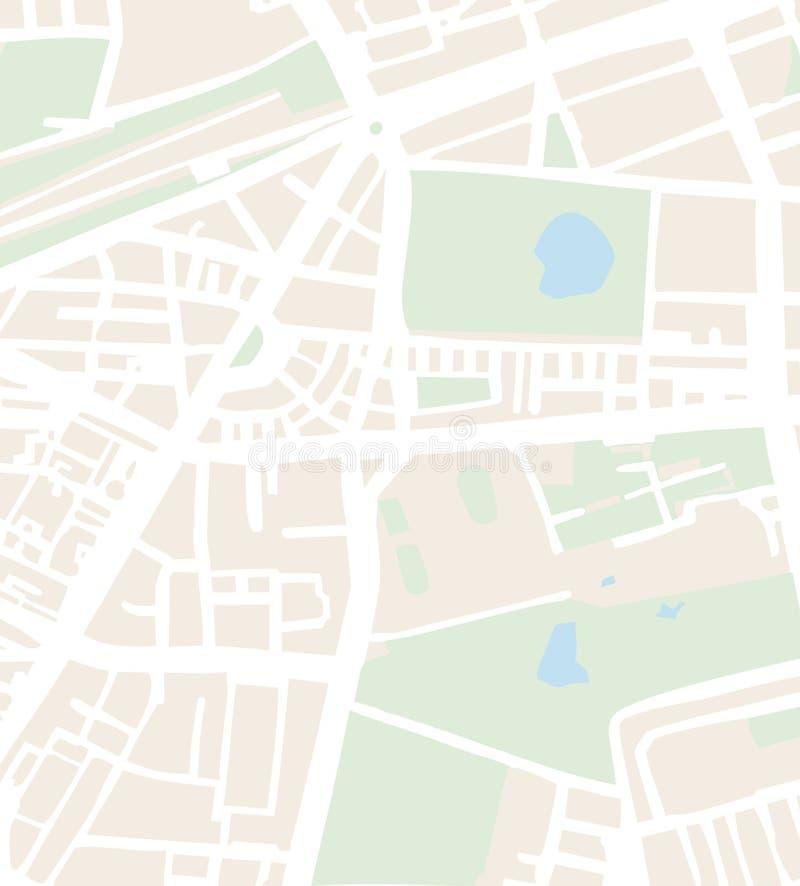 De abstracte vectorillustratie van de stadskaart met straten royalty-vrije illustratie