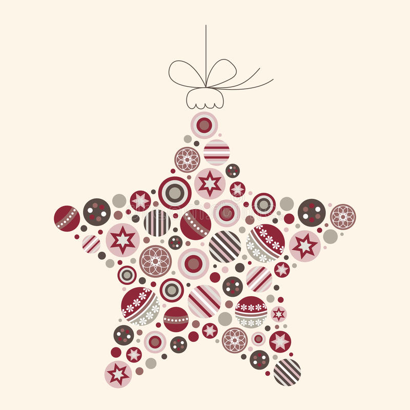 De abstracte VectorIllustratie van de Ster van Kerstmis stock afbeelding
