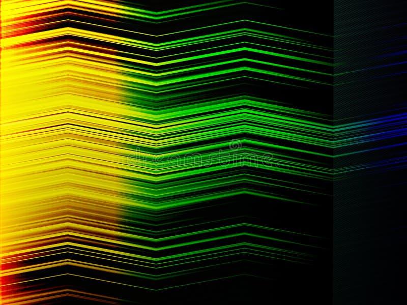 De abstracte veelkleurige achtergrond van de zigzagstrook vector illustratie