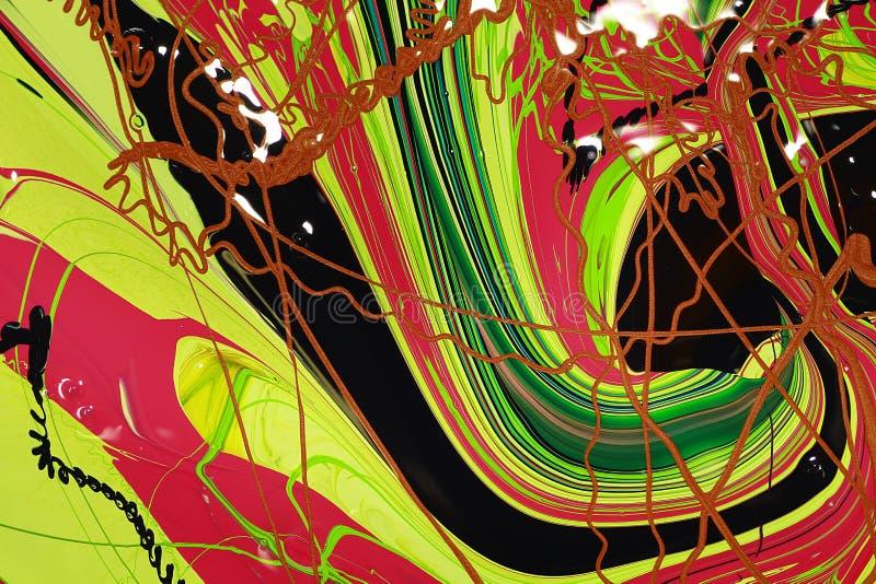 De abstracte verf kleurt achtergrond stock illustratie