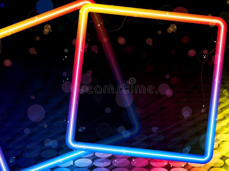 De Abstracte Vierkante Achtergrond van de disco royalty-vrije illustratie