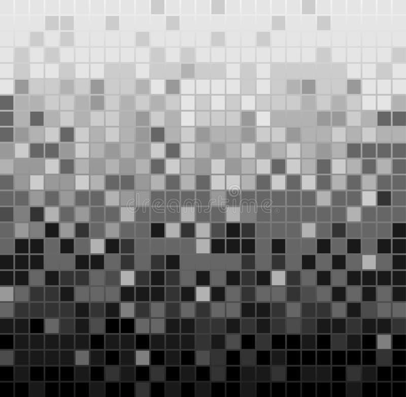De abstracte vierkante achtergrond van het pixelmozaïek royalty-vrije illustratie