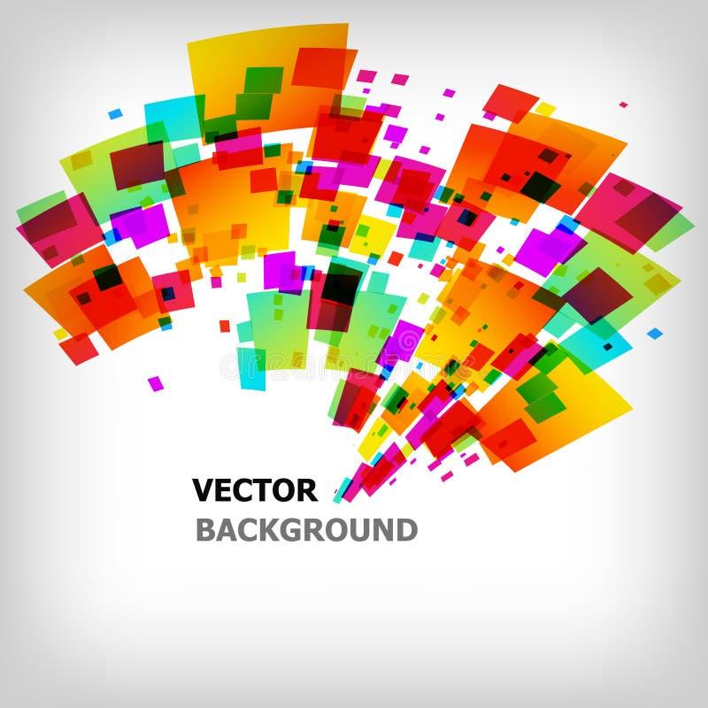 De abstracte vierkante kleurrijke achtergrond royalty-vrije illustratie