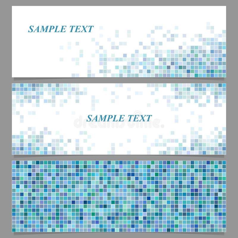 De abstracte vierkante reeks van het het ontwerpmalplaatje van de mozaïekbanner royalty-vrije illustratie