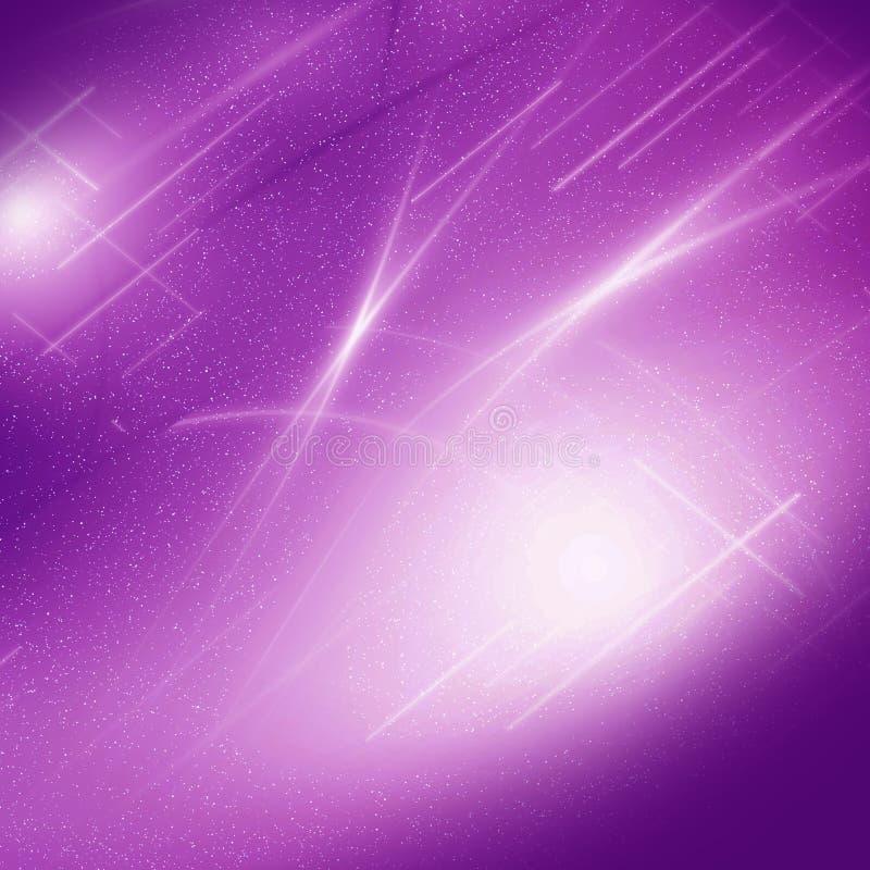 De abstracte violette achtergrond van de gloedgrafiek stock illustratie