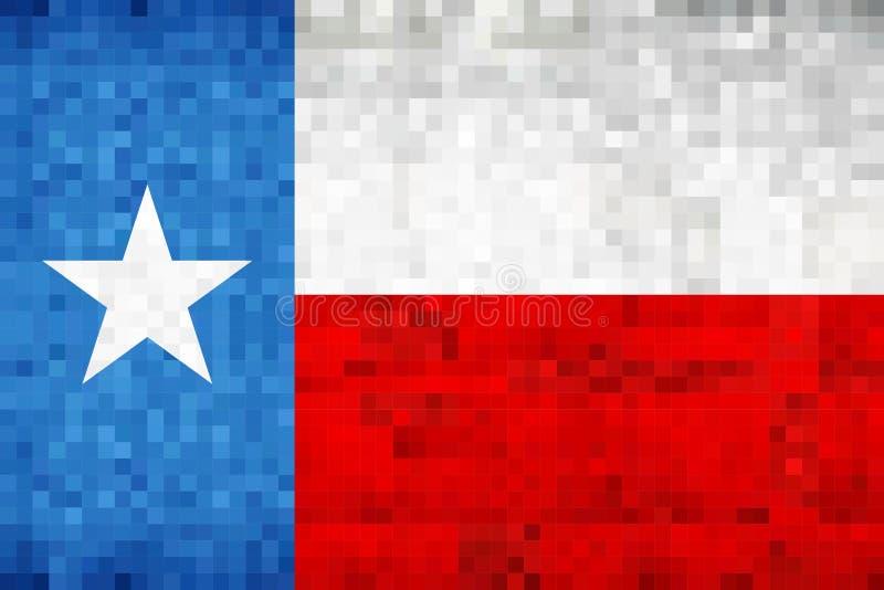 De abstracte vlag van het grungemozaïek van Texas royalty-vrije illustratie