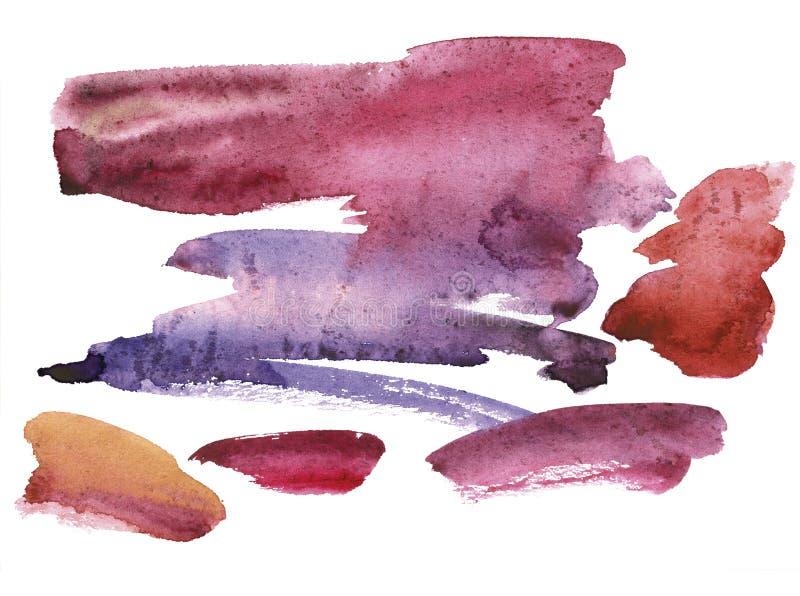 De abstracte vlek van de waterverfvlek voor achtergrond Ge?soleerdj op witte achtergrond stock fotografie