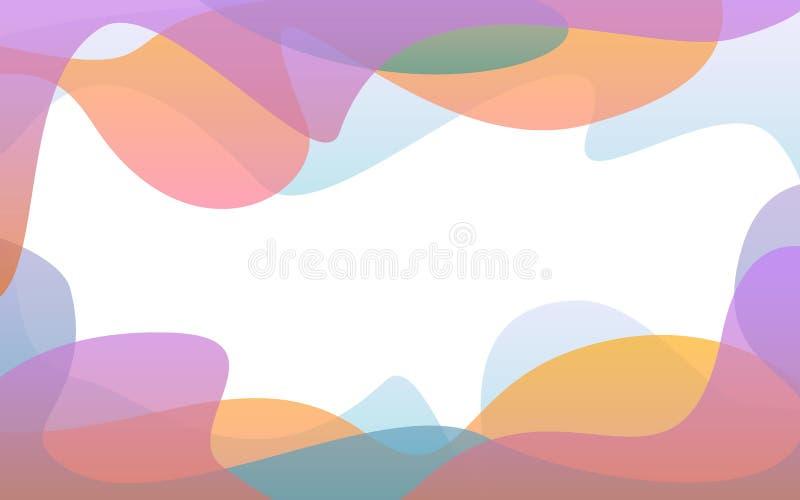 De abstracte vloeibare zachte banner van gradiënt golvende vormen stock illustratie