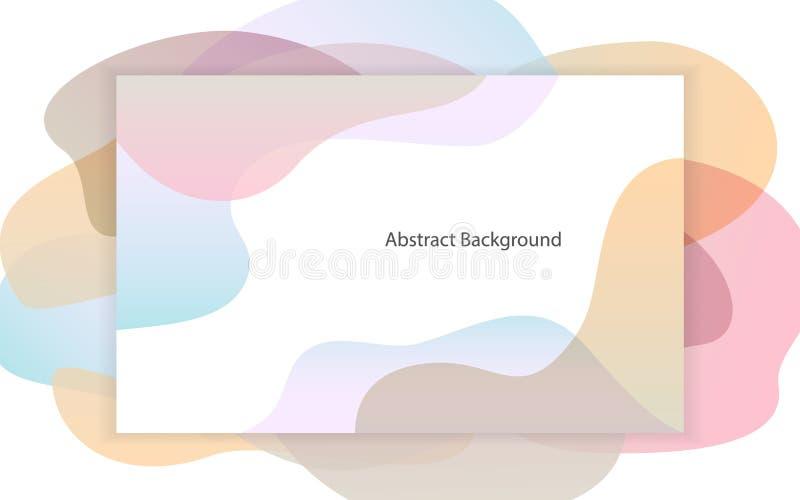 De abstracte vloeibare zachte pastelkleurgradiënt geeft kadertextuur gestalte royalty-vrije illustratie