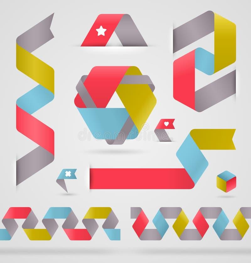 De abstracte vorm van de lintkleur stock illustratie